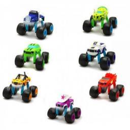 Набор 7 машинок 15 см с раздвижными колесами Вспыш и Чудо-машинки