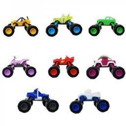 Набор 8 машинок 13 см с раздвижными колесами Вспыш и Чудо-машинки
