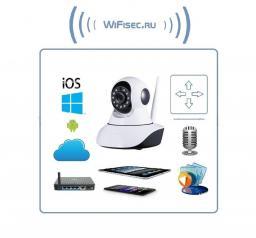 Видеоняня /моторизированная WiFi/LAN видеокамера с DVR, HD