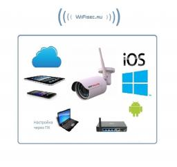 BSP Security. Уличная WiFI/LAN видеокамера, FullHD. 2Mp