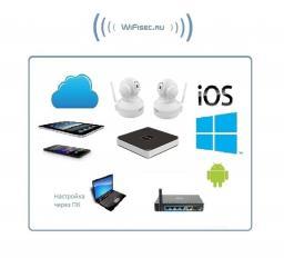 Vstarcam. Комплект WiFi видеонаблюдения, IP видеорегистратор и 2 моторизированные WiFi видеокамеры, HD