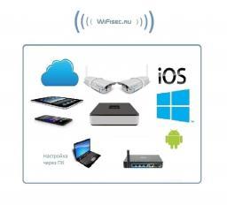 VStarcam. Комплект WiFi видеонаблюдения, IP видеорегистратор и 2 уличные WiFi видеокамеры с DVR, HD