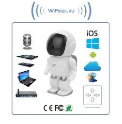 Видеоняня /WiFi-LAN видеокамера моторизированная с DVR (robot), HD