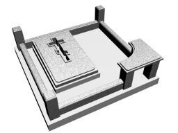 Гранитный комплекс на могилу Крест