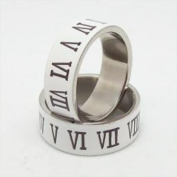 Кольцо из стали с римскими цифрами