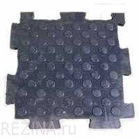 Напольная резиновая плитка PUZZLE 550х550х20 мм