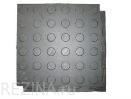 Резиновая плитка 400х400х18 мм с потайным креплением