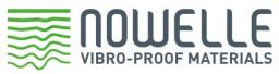 Вибродемпфирующий эластомерный материал Nowelle mod. 1.10 общего назначения 700х700х10 мм