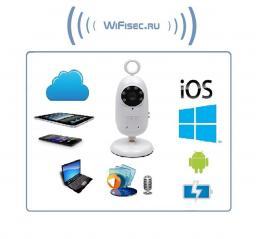 WiFi видеоняня с DVR (baby) и аккумулятором, HD