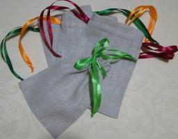 Льняные мешочки для подарков 10х15