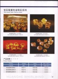 Ювелирный желтыйцветный синтетический алмаз