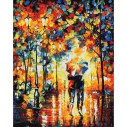 Картина по номерам Под одним зонтом Л. Афремова, 40x50, Белоснежка