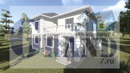Проект загородного дома из газобетона BO-02