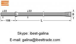 Н22 Интегральные буровые штанги Хвостовик: 22mm×108mm