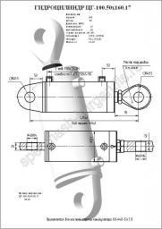 Гидроцилиндр наклона каретки ЦГ100.50х160.17