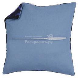 Задняя часть наволочки для подушек (голубой цвет), Бос