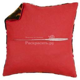 Задняя часть наволочки для подушек (красный цвет), Бос