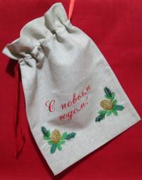 Новогодние мешочки с вышивкой на заказ
