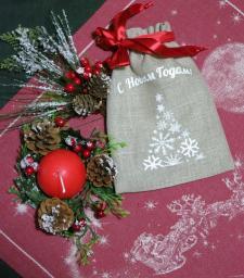 Новогодние мешочки с печатью на заказ