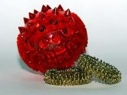 Су-Джок массажный шарик с кольцами