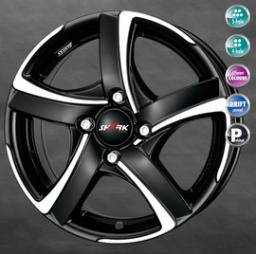 Alutec Shark 7.0x16 5/105 ET38 d-56.6 Racing Black Front Polished (SH70638O83-5)