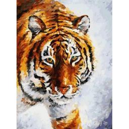 Раскраска Тигр на снегу, Л.Афремов, 30x40, Белоснежка
