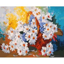 Раскраска Корзина с ромашками Антона Горцевича, 40x50, Белоснежка