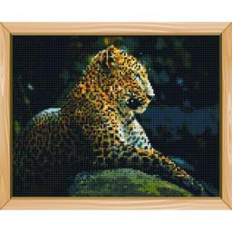 Алмазная мозаика Леопард, полная выкладка, 30x40