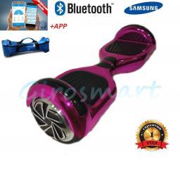 Гироскутер  Smart. 1 поколение c верхней LED подсветкой. Розовый хром.  Bluetooth. С APP
