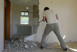 Демонтаж гипсовых стен, вывоз мусора