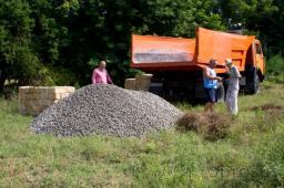 Доставка щебня, самосвал 10 тонн