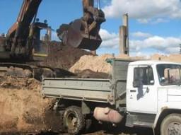Доставка песка, самосвал 5 тонн