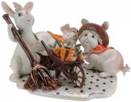 Статуэтка, 16 см, кролики за работой - Pastel Ceramica (91086)