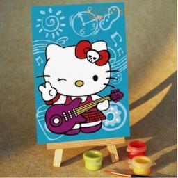 Раскраска Kitty с гитарой, 10x15, Menglei