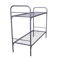 Кровать металлическая, двухъярусная К-002