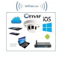 Видеоняня WiFi/LAN видеокамера, HD (изв. дыма)