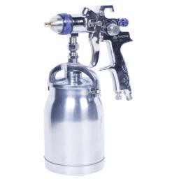 Краскопульт высокого давления, сопло 2,5 мм, нижний бачок, кейс МАСТАК 670-125C