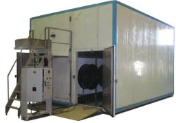 Аппараты скороморозильные флюидизационные АСМФ от 150 кг до 3000 кг/сутки (агрегатированные, с конвейером подачи)