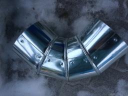 Отвод ППУ с покрытием из оцинкованной стали (кожух оцинкованный)