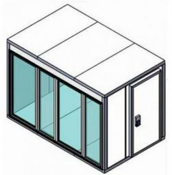 Камеры холодильные со стеклом КХН «Polair» серия «Professionale»