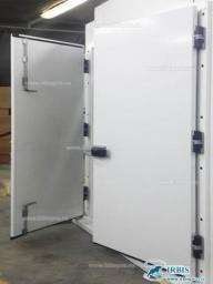 Двустворчатые двери с накладной рамой Коммерческой серии РДД (КС) шир. проема 1200мм