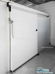 Двери холодильные откатные коммерческой серии РДО (КС) ширина проема 800мм
