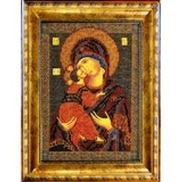 Рама для иконы, Радуга бисера (Кроше), 18x25
