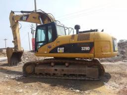 Аренда гусеничного экскаватора CAT 329D-LM, скальный ковш 1,8м3 обычный ковш2,5м3