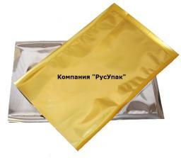 Металлизированные вакуумные пакеты 120 х 420 мм 70 микрон ( золото ) для упаковки продуктов (100 шт.)