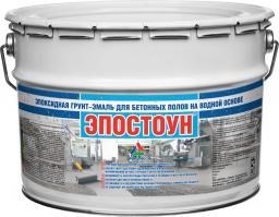 Эпостоун — водно-эпоксидная эмаль для бетонных полов (полуматовая), 22кг