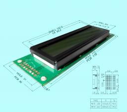 Алфовитно-цифровой ЖК дисплей со встроенным чипом HD44780