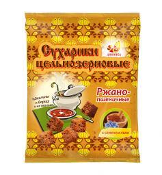 Сухарики ц/з ржано-пшеничные со льном