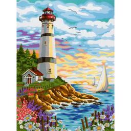 Раскраска Красочный маяк Ники Боэм, 40x50