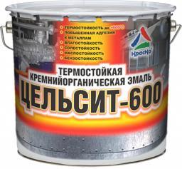 Цельсит-600 - высокотемпературная кремнийорганическая эмаль для металла, 3кг